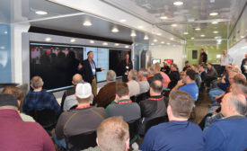 Young Supply Co. holds a training session for its customers in partnership with Rheem Mfg. Co. on its mobile demo trailer.