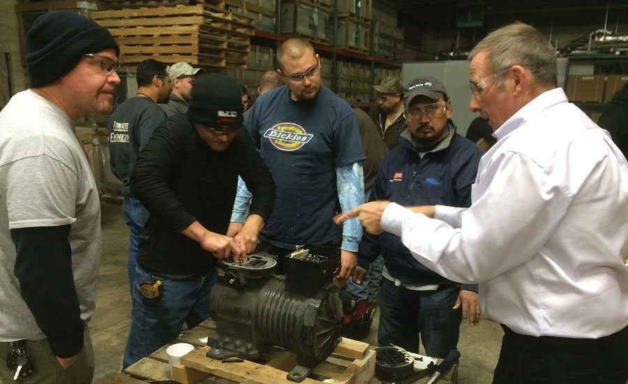 Illco Inc. conducts its training in the spring and fall, with most classes held at its Elk Grove, Illinois, training center.