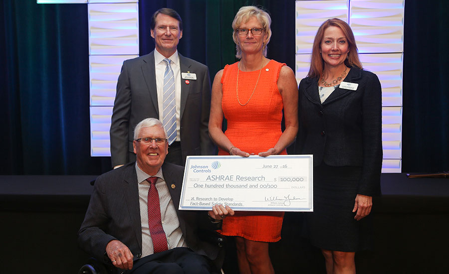 JCI donates to ASHRAE research