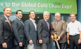 Preparing to cut the ribbon on the inaugural Global Cold Chain Expo