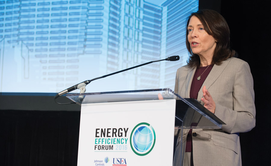 "Discussing smart buildings, U.S. Sen. Maria Cantwell, D-Washington, said, ""The trend toward smarter and integrated is, I believe, a game changer."" Photo courtesy of Herman Farrer Photography"