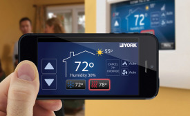 The Carrier Côr thermostat provides homeowners with monthly energy reports and insights on ways to save on heating and cooling energy costs.