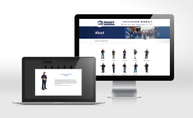 San Diego-based Mauzy Heating, Air & Solar took a creative approach on its About Us web page which features full body images of employees, nicknames, and short biographies.