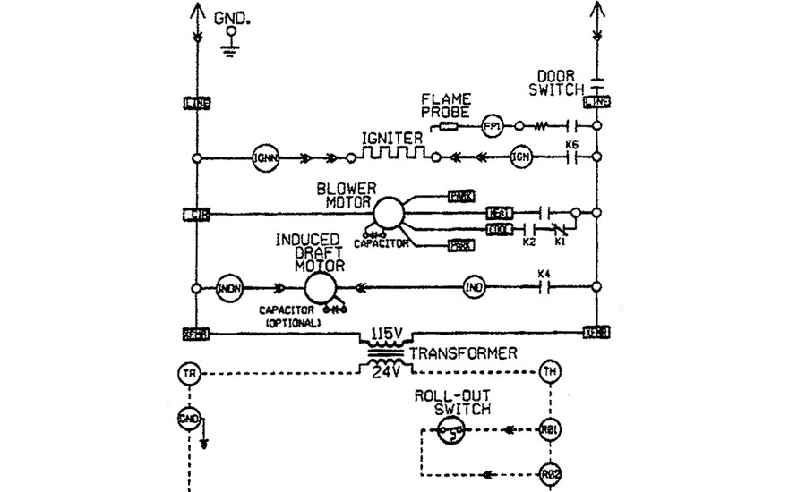 Furnace electrical system schematic