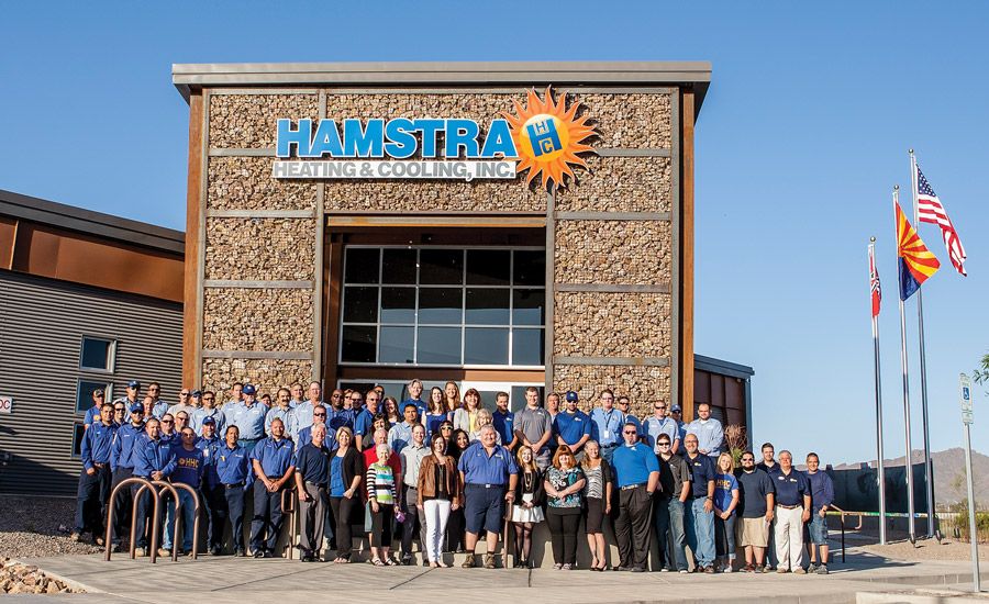 Hamstra Heating & Cooling Inc. in Tucson, Arizona, relocated to a new 15,304-square-foot office facility in 2015.