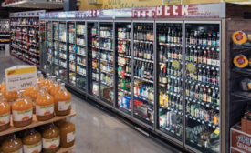 Supermarket customers don't care what HVACR contractors have to go through to keep their favorite beverages cold – they just expect the work to be done. Photo courtesy of Zero Zone, Inc.