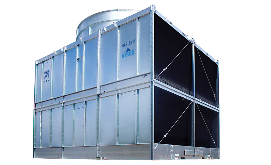 SPX Cooling Technologies' Marley® NC Everest™ Cooling Tower features a unique design that minimizes piping and electrical connections that help reduce installation costs.