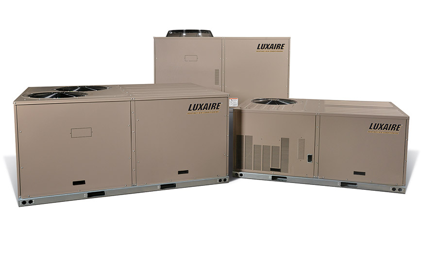Luxaire: Eclipse™ packaged heat pumps: XYE04-09 (mid-efficiency heat pump) and XXE12 (standard efficiency heat pump)