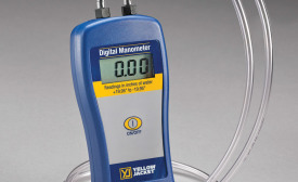 The manometer is an essential tool for checking system pressures. Photo courtesy of Ritchie Engineering Co.