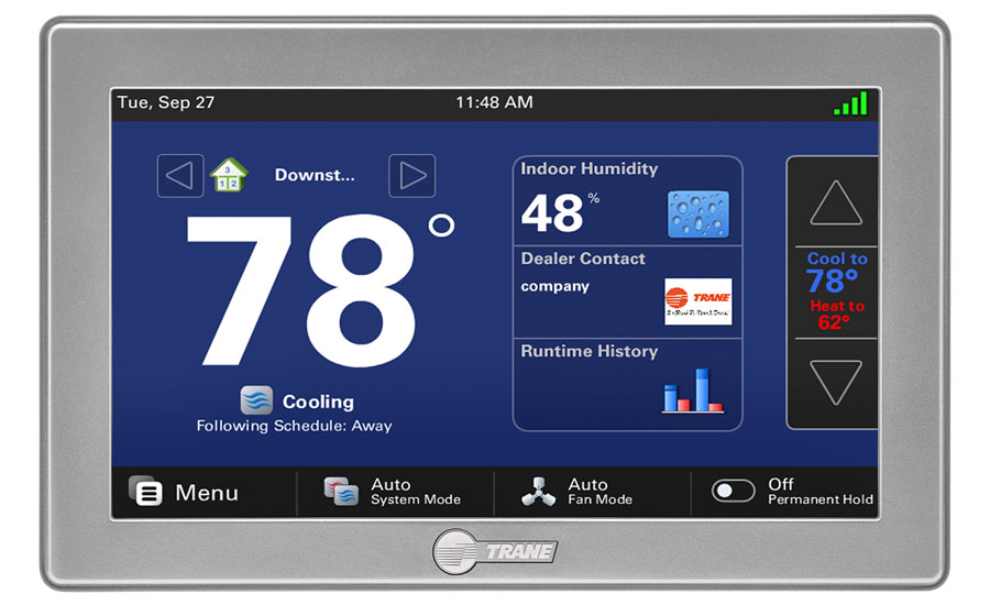 XL-1050 color touchscreen Wi-Fi thermostat