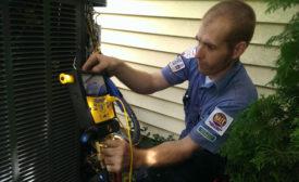 new air conditioning unit pressure