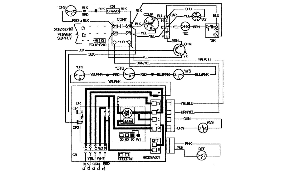troubleshooting challenge a florida heat pump problem 2017 10 09 rh achrnews com Heat Pump Thermostat Wiring Diagrams ICP Heat Pump Wiring Diagram