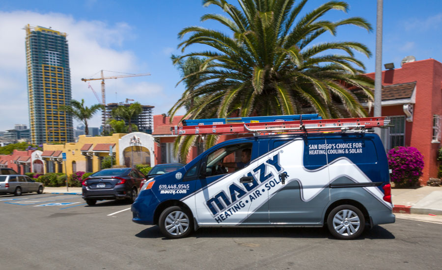 Mauzy Heating, Air & Solar Van