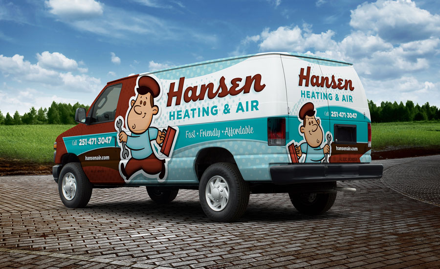 Hansen Heating & Air Van