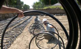 Geothermal install School