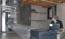 First used for sealing ductwork in existing homes, aerosol duct sealing is proving to be ideal for new residential construction as well. - ACHR