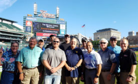 Ray Isaac, president of Isaac Heating & Air Conditioning in Rochester, New York, visits Comerica Park, home of the Detroit Tigers baseball team, with his MIX Group during one of their biannual meetings. - The NEWS - ACHR