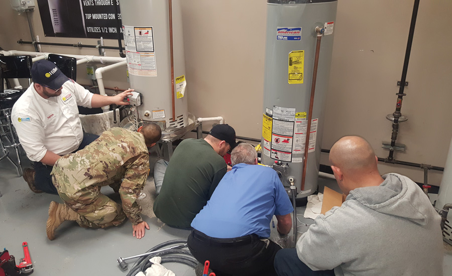 Students in the Transition to Trades program can choose from three 30-day classes: HVAC, plumbing, and electrical — or, they can choose to take all of them. - The ACHR News