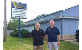 David Squires (left), president, Online-Access, and his brother, Daniel Squires (right), president, Vincent's Heating & Plumbing in Port Huron, Michigan, are business partners and friends. - The ACHR News