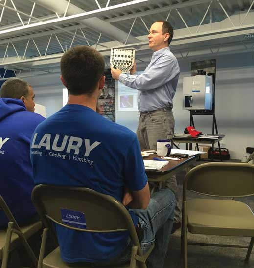Training at Laury Heating, Cooling, Plumbing. - The ACHR News