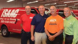 Ray Isaac (right) and his brothers (from left: David, Michael, and Ken) of Isaac Heating and Air Conditioning. - ACHR News