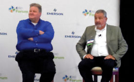 Brad Thrasher (left) from Zero Zone and Derek Gosselin (right) from Hillphoenix answered questions about digital shopping, changing store formats, and new system architectures. - The ACHR News