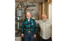 Paul Mercier and a journeyman he worked with completing installation. - The ACHR News
