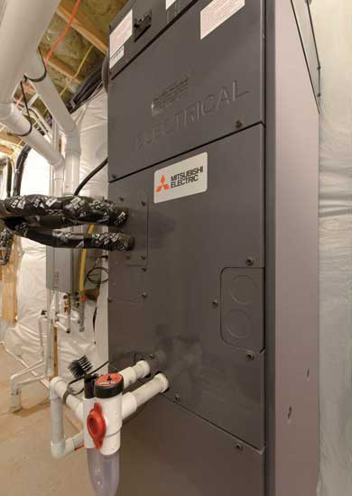 Mitsubishi Electric MVZ vertical ducted air handler. - The ACHR News