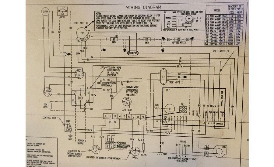 A Gas Pack That S Ing Cold Air, Rheem Wiring Diagram