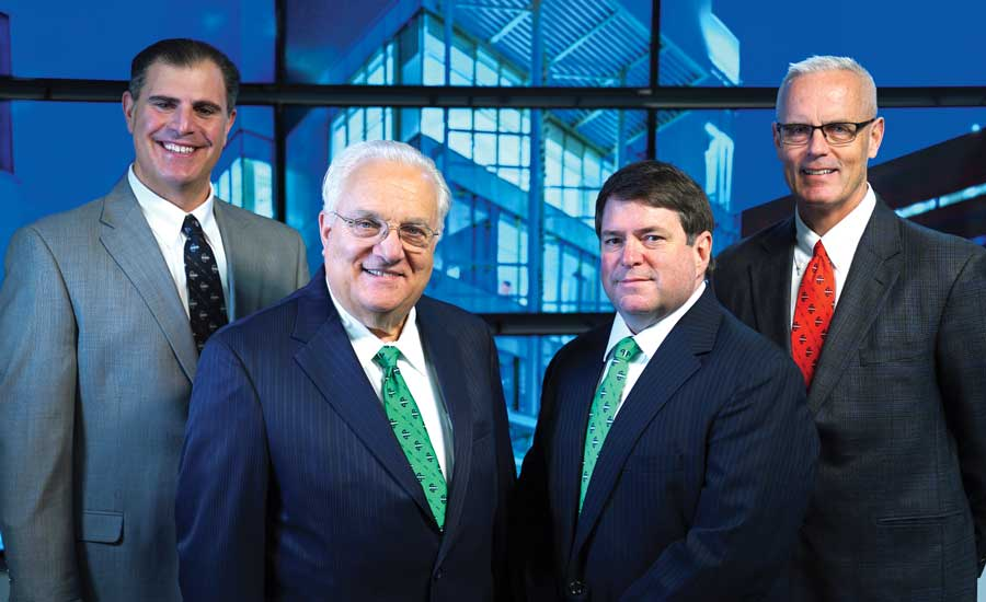 E.M. Duggan Leadership Team. From left to right: Len Monfredo, owner and executive vice president of operations; Vincent Petroni, president, CEO, and CFO; Rick Dorci, executive vice president and COO; and Kevin Walsh, executive vice president of plumbing. - The ACHR News