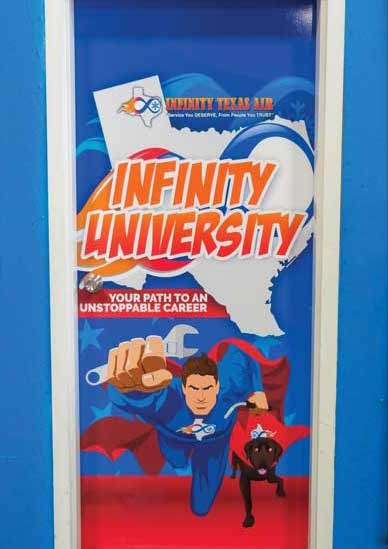 Infinity Texas Air crime fighter poster art. - The ACHR News