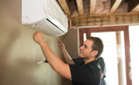 Restivo's Heating & Air Conditioning installing ductless systems. - The ACHR News