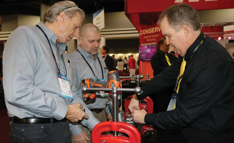 AHR Expo Viega booth. - The ACHR News