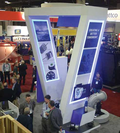 Regal Beloit Corp. featured a wide range of system solutions throughout its booth. - The ACHR News
