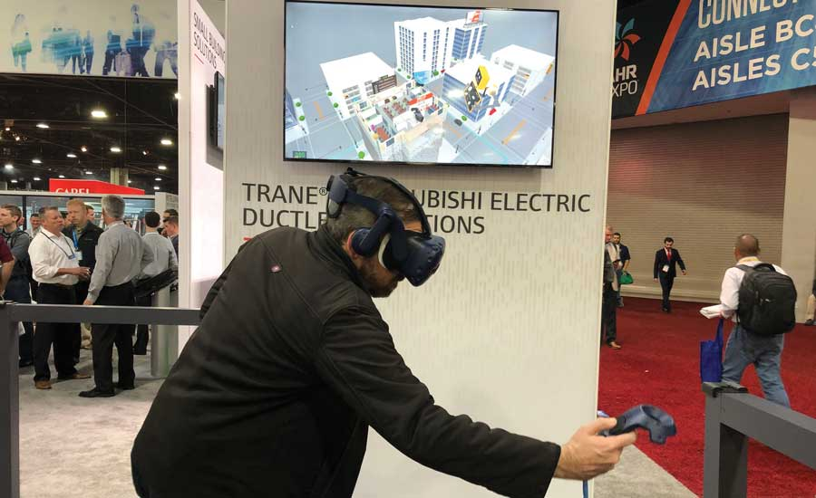 Trane's virtual reality tools. - The ACHR News