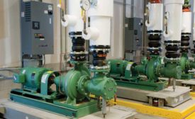 The AHRI 1210/1211 certification. Photo of a Schneider Electric pump system. - The ACHR News