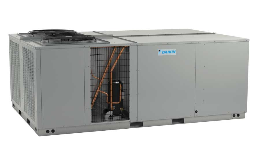 Daikin Commercial Unitary DCG 15- to 25-ton rooftops with FIOP hinged access panels. - The ACHR News