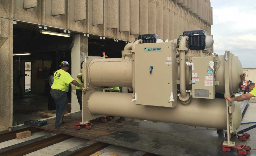 A Daikin Applied water-cooled chiller is installed. - The ACHR News