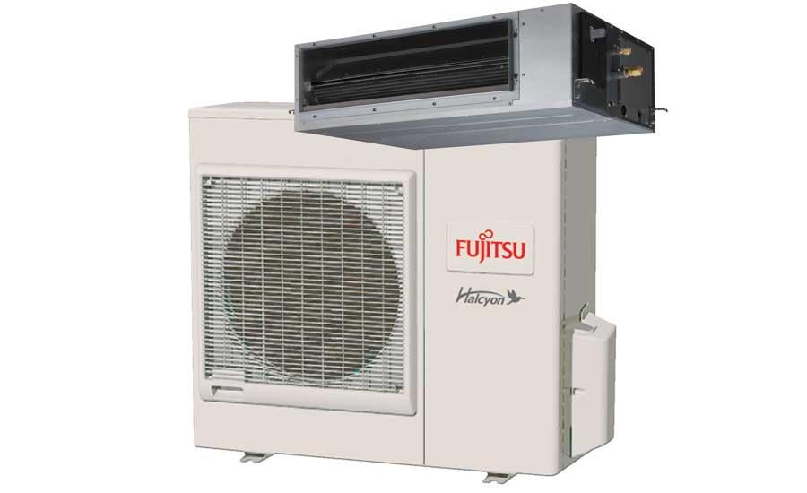 Fujitsu General America Inc. Halcyon medium static duct heat pump, RGLX Series. - The ACHR News