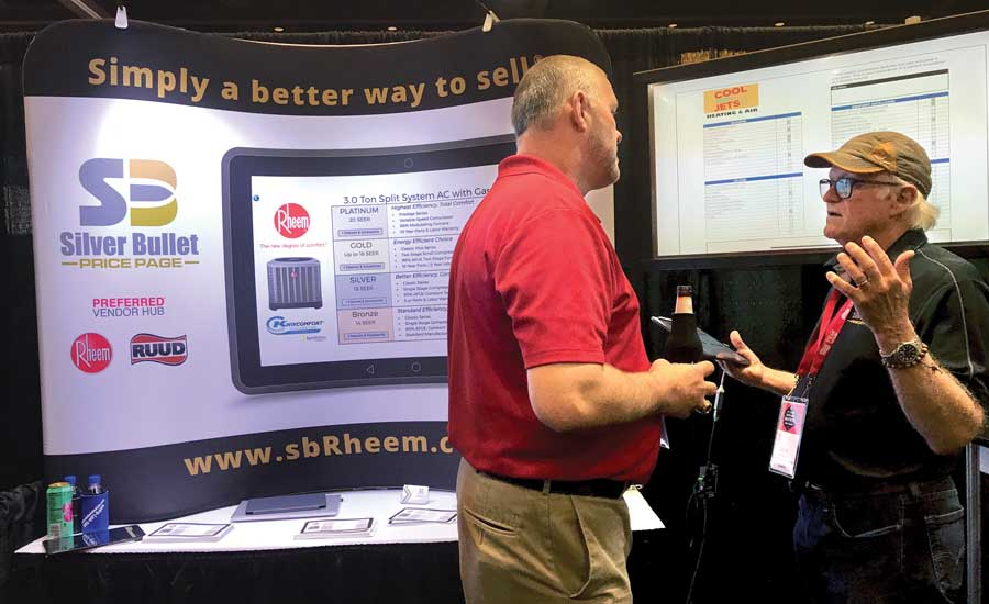 Pro Partner vendor Silver Bullet was among many present during the four-day Ruud and Rheem Driving Greatness National Conferences. - The ACHR News