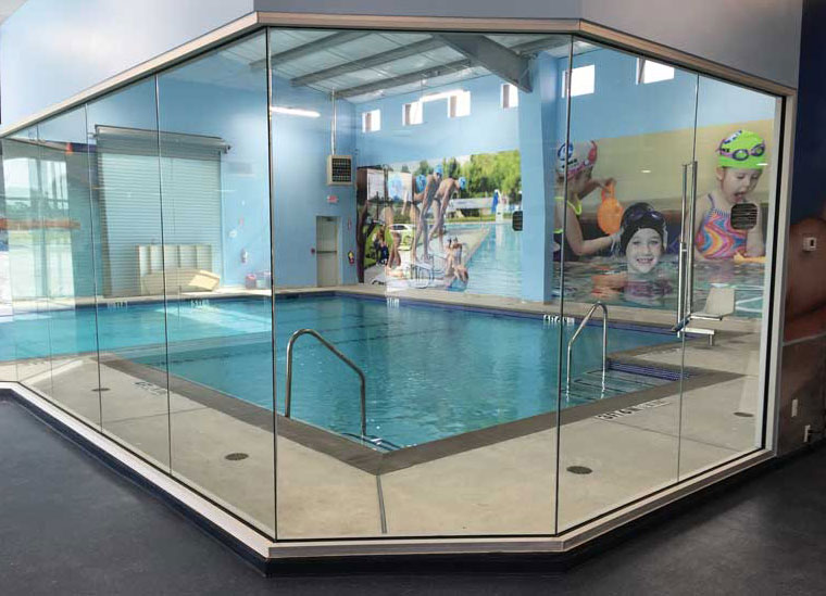 Radiant heat in the pool decks and changing rooms keep swimmers and spectators comfortable and help evaporate water on the floor so people are less likely to slip. - The ACHR News