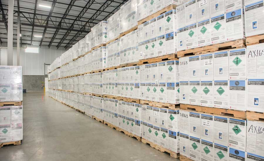 Shown here is Freon™ MO99, stored in a Chemours warehouse. - The ACHR News