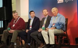 The contractor panel consisting of Art Sutherland, Robert Leonard, Ryan Welty, and Peter Comeau (left to right).