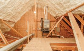 The Owen residence's attic insulation.