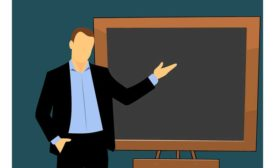 Teacher-chalkboard