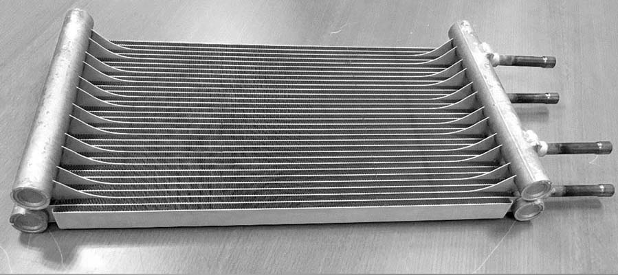 Danfoss Interlaced Micro Channel Heat Exchanger.
