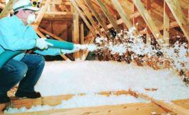 Attic insulation.
