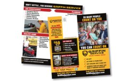Marketing for HVAC Direct mail pieces.