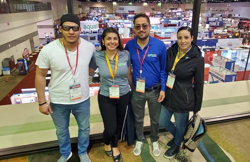 Luisa Vesga (far right) and her team recently attended the AHR Expo.