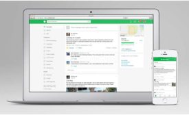 Nextdoor App on laptop.